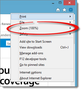 Click The Gear And If Zoom Is Not At 100 Arrow Next To Percentage Set It