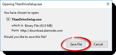 Click Save File