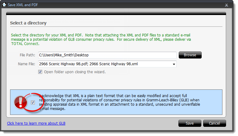 2012 delivering xml pdf files via datacourier for What do appraisers look for